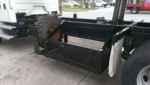 Augar Basket With Bobcat Spare Wheel Carrier